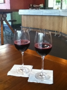 Two organic wines at The Brown Fox